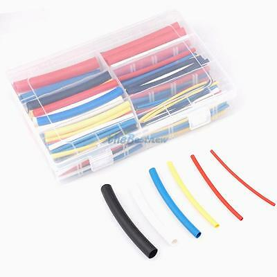 High strength 180PCS 3:1 Heat Shrink Tubing Tube Sleeving Wrap Cable Wire 6 Size