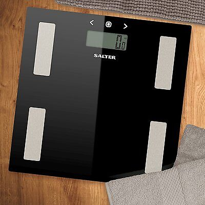 NEW Salter 9150 BMI Analyser Electronic Glass Scale - Black