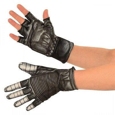 Winter Soldier Gloves Costume Accessory Adult Marvel Universe Halloween