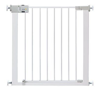 NEW Safety 1st Secure Tech Simply Close Metal Gate - White