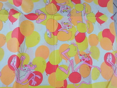 Vintage Pink Panther Paper Birthday Party Tablecloth UNPACKAGED Unused
