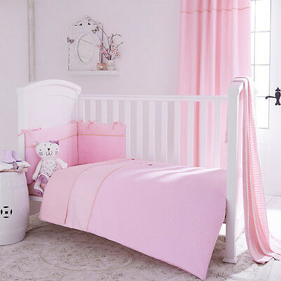 Izziwotnot Pretty Pink Gift 5 Piece Quilt Bedding Bale, Cot/Cot Bed