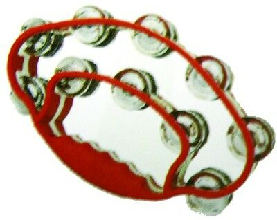 New ALICE ATB-007 Double Ring Butterfly Tambourine Church Choir Full Size