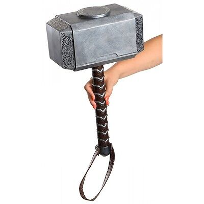 Thors Hammer Toy Kids Superhero Costume Accessory Halloween Fancy Dress Up