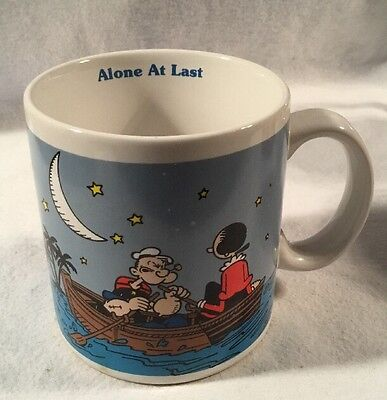 'Alone At Last' Cup Mug Popeye Olive Oyl 1990 King Features Hamilton Gifts
