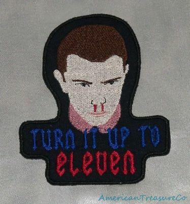 Retro 80s Stranger Things Turn It Up To Eleven Embroidered Sewn Patch Iron On