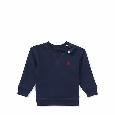 Polo Ralph Lauren Baby Boy Girl Kids Jumper Sweater Top Navy Blue 12 18 24 month