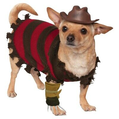 Freddy Krueger Dog Costume Funny Halloween Pet Fancy Dress