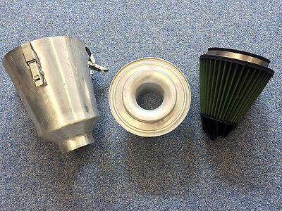 Green Filter Airbox Intake Kit Renault Clio II Sport RS 172 182 Velocity Stack!