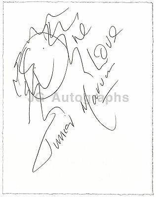 """Junior Marvin from Bob Marley & The Wailers Band - Autographed """"One Love"""" Sketch"""
