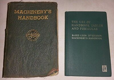 Machinery's Handbook 11th Edition 4th Printing - 1943 & use of Tables & Formulas