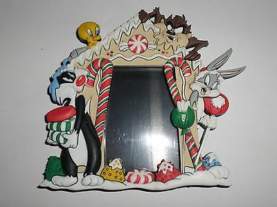 Looney Tunes Sylvester Tweety Bugs Taz Magnetic Picture Frame  Christmas WB 1999