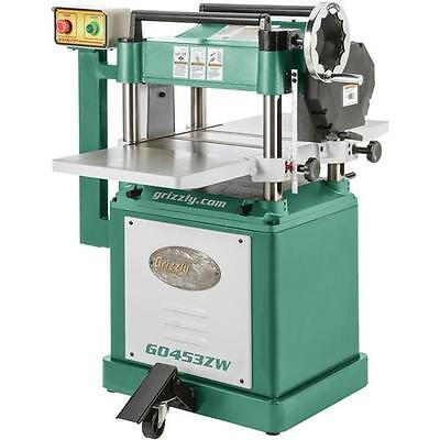 """G0453ZW Grizzly 15"""" Planer with Spiral Cutterhead"""