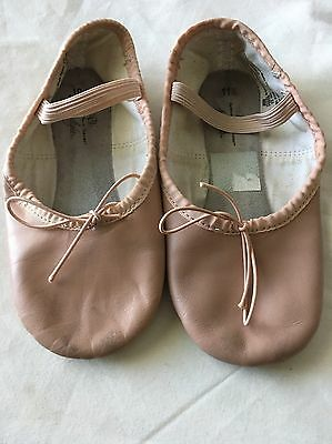 ABT Spotlights Pink Leather Ballet Dance Slippers Shoes Girls Size 11.5