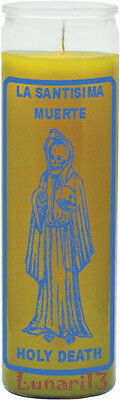 Holy Death, La Santisima Muerte, 7 Day Candle, Yellow, Lunari13, Wicca, Magia
