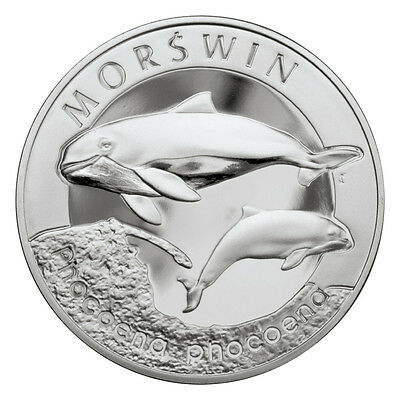 2004 POLAND 20zl SILVER PROOF- THE HARBOUR PORPOISE