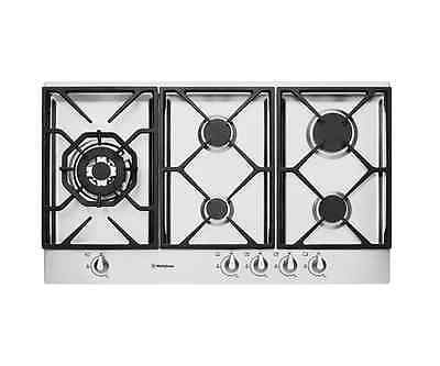 Westinghouse WHG956SA 90cm stainless steel gas cooktop