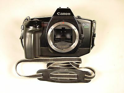 Canon EOS 630 35mm SLR Film Camera Body Only w/ Strap (2)