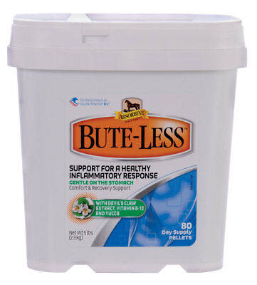 Absorbine BUTE-LESS Horse Pain Reliever Pellets 80 days Supply Made in USA