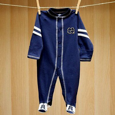 Notre Dame Baby Infant Sport Shoe Footie Coverall Romper (FREE SHIPPING) 6-9 mo