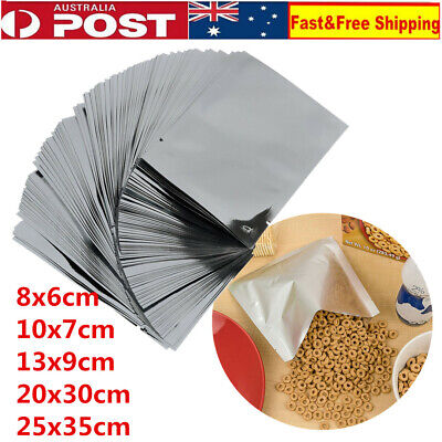 100 X Aluminum Foil Mylar Bag Vacuum Sealer Food Storage Package Pouch 5 Size