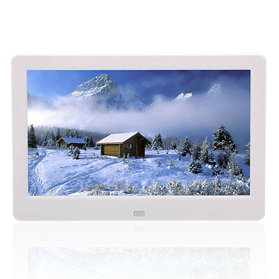 """10"""" inch TFT White HD Digital Photo Frame Picture Mult-Media MP4 Player"""