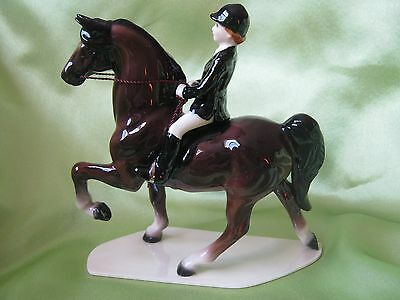 Hagen Renaker Horse Dressage Horse With Rider Figurine 04002 New FREE SHIP