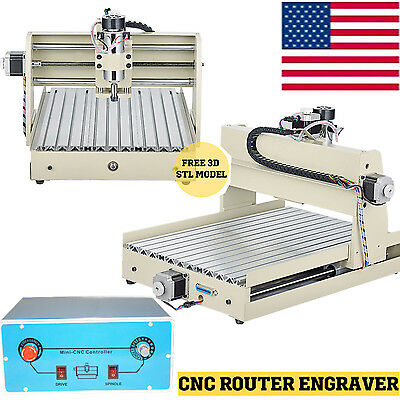3 Axis 3040 CNC Router Engraver 400W 3D Wood Engraving Milling Machine MACH3 US
