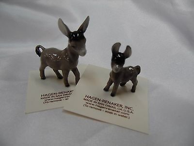 Hagen Renaker Burro Donkey and Baby Set Figurine Miniature FREE SHIPPING NEW