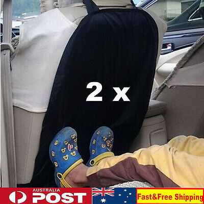 2 x Car Auto Care Seat Back Protector Cover For Children Kick Mat Mud Clean AU