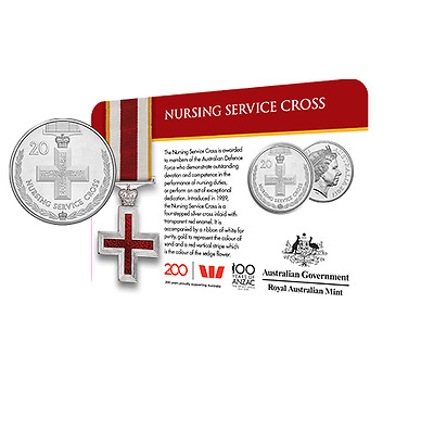 2017 Legends of the Anzacs Medal Collection Nursing Service Cross 20 Cents Coin
