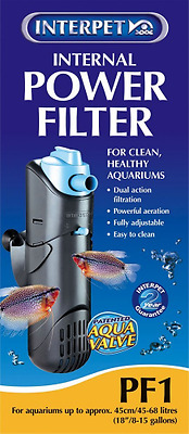 Interpet Internal Aquarium Power Filter for Fish Tanks - PF1