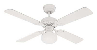Westinghouse Vegas 105 cm/ 42-inches Ceiling Fans, White-White/ Washed Pine