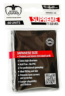 Ultimate Guard Supreme Sleeves Japanese Size (Pack of 60, Black)