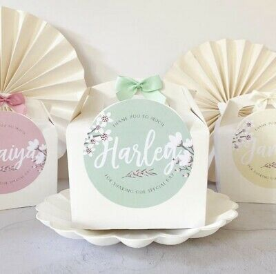 Personalised Activity Box   Peach Blossom   Wedding Party Gift Bag Favour