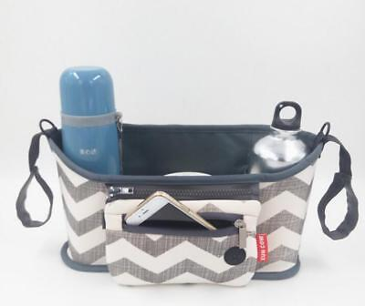 New Portable Canvas Baby Cart Strollers Bag Organizer Basket Pushchair Cup Bag