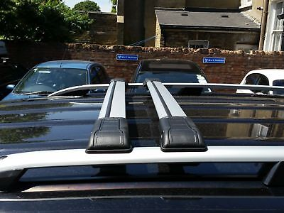 Ford Transit Custom Roof Rail Bar + Lockable Cross Bars 2013 Onward Lwb
