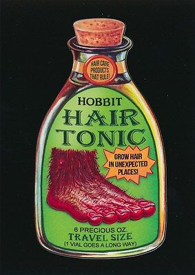 #1 HOBBIT HAIR TONIC 2017 Wacky Packages 50th Anniversary MOVIE BLACK LUDLOW /99