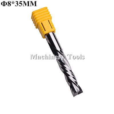 2pc HQ Down Cut Tool Double Flute Spiral Left-Handed CNC Router Bits 6mm ×22mm