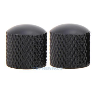 4x Black Metal Dome Volume Tone Control Knobs for Electric Guitar Bass Black New
