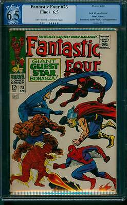 Fantastic Four # 73  DD ! Thor ! Spider-Man !  PGX 6.5 scarce book !