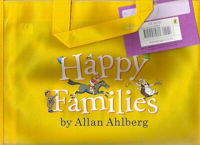 HAPPY FAMILIES Allan Ahlberg Canvas Book Bag + label Childs Storage Collectable