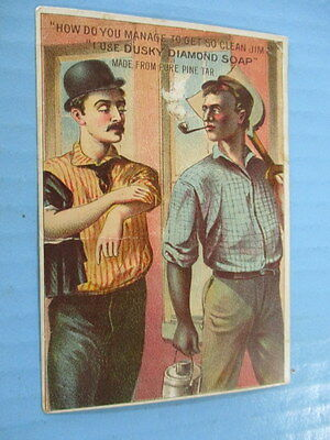 """Antique Trade Card,""""dusky Diamond Soap"""", By Jas. S. Kirk & Co. Chicago"""