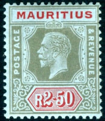 MAURITIUS-1922 2r.50 Black & Red/Blue Sg 239 MOUNTED MINT V15314