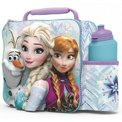 Disney Frozen 'Elsa Anna And Olaf' 3D Lunch Box Bag With Bottle