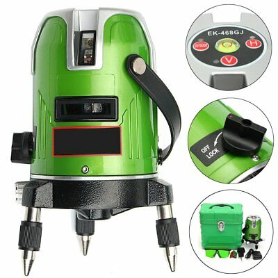 Green Laser 5 Line 6 Point  Level 360° Rotary Infrared Laser Line Self-Leveling