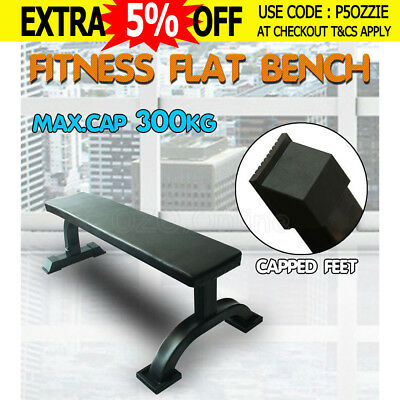 Fitness Flat Weight Bench Press Gym Strength Train Home Workout Exercise 300KG