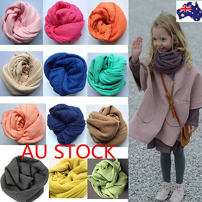 Lovely Cute Children Kids Boys Girl Linen Scarf Warm Solid Fashion Shawl Scarves
