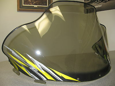 Polaris Snowmobile Mid Smoke Yellow/silver Edge Chassis Windshield