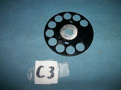Black W.E. Rotary Phone Metal finger wheel, For parts!!